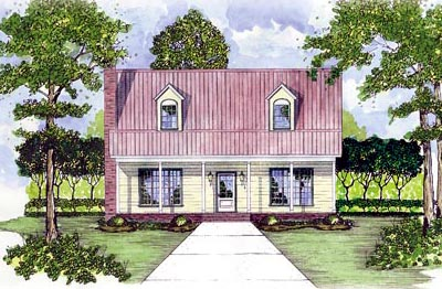 Country Style Home Design Plan: 18-291