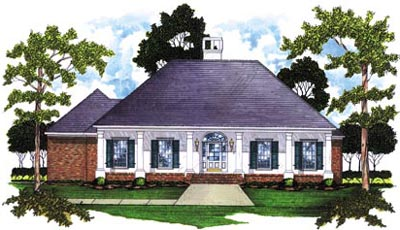 Southern Style Home Design Plan: 18-293