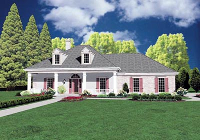 Southern Style Floor Plans Plan: 18-294