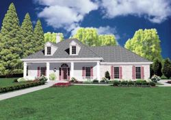 Southern Style Home Design Plan: 18-294