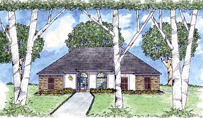 Southern Style Floor Plans Plan: 18-297