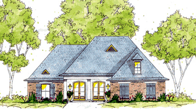 European Style Home Design Plan: 18-298