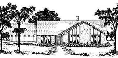 Ranch Style Home Design Plan: 18-304