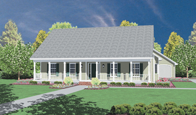 Country Style Home Design Plan: 18-306
