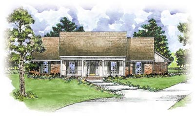 Country Style Floor Plans Plan: 18-309