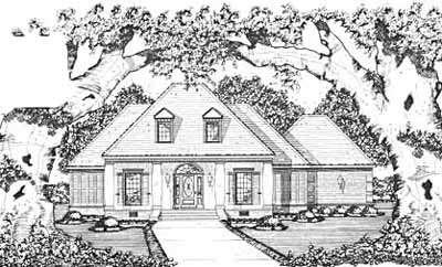 Southern Style Home Design Plan: 18-313