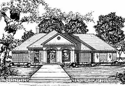 European Style Home Design Plan: 18-316