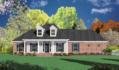 Country Style Home Design Plan: 18-318