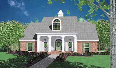 Southern Style Home Design Plan: 18-319