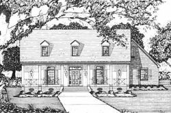 Country Style Home Design Plan: 18-320