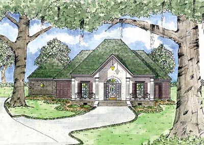 European Style Home Design Plan: 18-321
