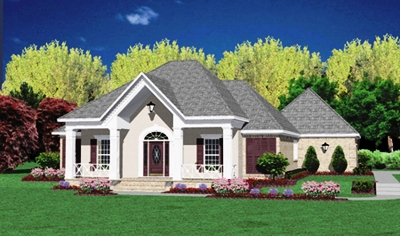 European Style Home Design Plan: 18-322