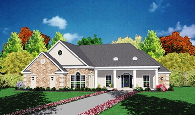 Country Style Home Design Plan: 18-323