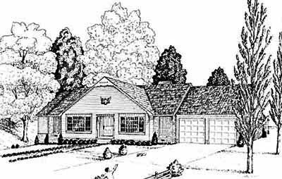 Ranch Style Floor Plans Plan: 18-329