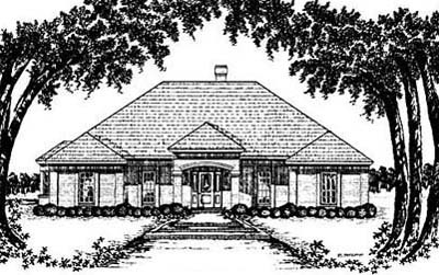 Mediterranean Style Home Design Plan: 18-330