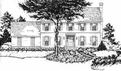 Early-American Style Floor Plans Plan: 18-331