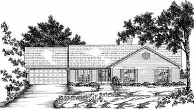 Ranch Style House Plans Plan: 18-334