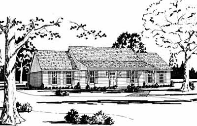 Country Style Floor Plans Plan: 18-335