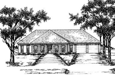 Southern Style House Plans Plan: 18-336