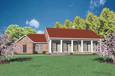 Southern Style Home Design Plan: 18-338