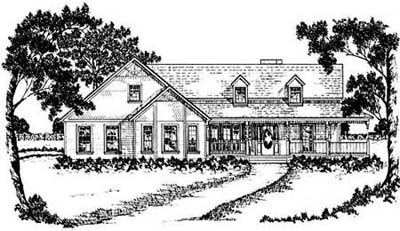 Country Style Floor Plans Plan: 18-339