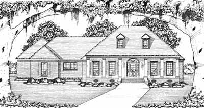 Southern Style Floor Plans Plan: 18-341