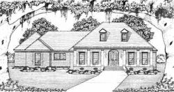 Southern Style Home Design Plan: 18-341