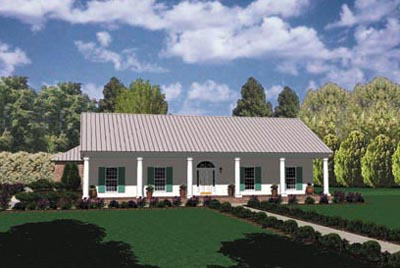 Country Style Floor Plans Plan: 18-342