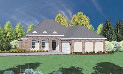 European Style Home Design Plan: 18-343