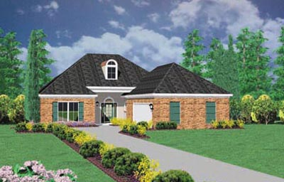 Southern Style Floor Plans Plan: 18-344