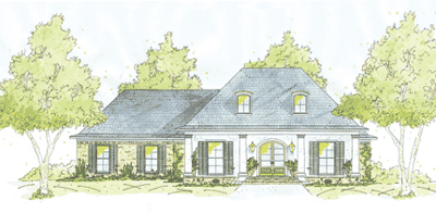 French-country Style Floor Plans Plan: 18-345