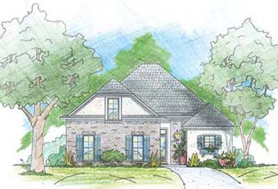 English-country Style Home Design Plan: 18-347