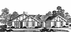 Ranch Style Home Design Plan: 18-352