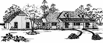 Country Style Home Design Plan: 18-353