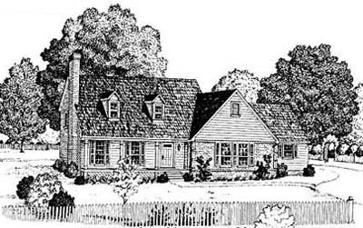 Early-american Style Home Design Plan: 18-354