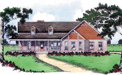 Country Style House Plans Plan: 18-358