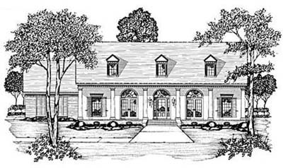 Country Style Home Design Plan: 18-360