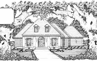 Southwest Style Home Design Plan: 18-361