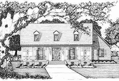 Country Style Floor Plans Plan: 18-362