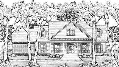 Country Style Floor Plans Plan: 18-364