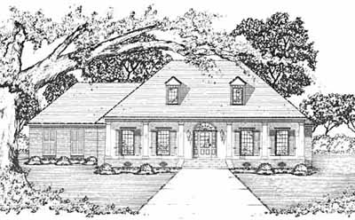 French-country Style Home Design Plan: 18-365