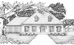 French-Country Style House Plans Plan: 18-365