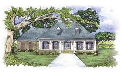 French-country Style Floor Plans Plan: 18-366