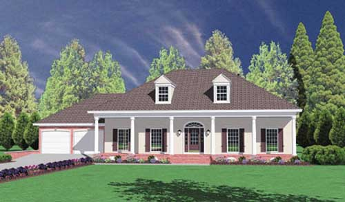 Southern Style Floor Plans Plan: 18-367