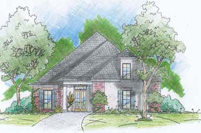 English-country Style House Plans Plan: 18-368