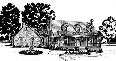 Country Style House Plans Plan: 18-372
