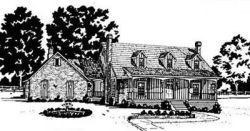 Country Style Home Design Plan: 18-372