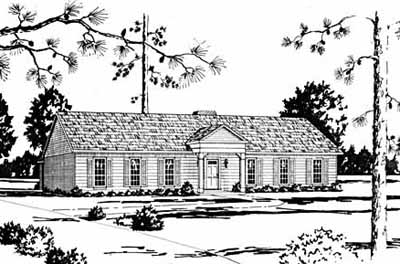 Early-american Style Home Design 18-378