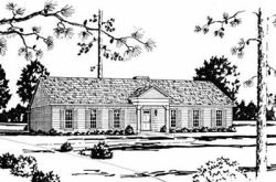Early-American Style Home Design Plan: 18-378