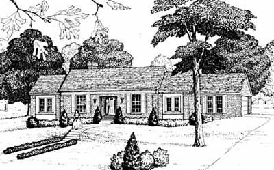 Early-american Style Home Design Plan: 18-379